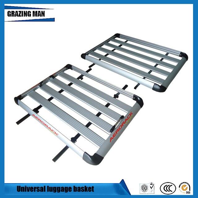 Car Roof Frame Aluminum Roof Rack Universal Roof basket Travel Frame Monolayer Luggage box 100*90 cm