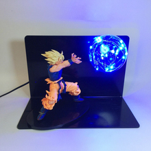 New Design Dragon Ball Z Lamp Goku Anime Model Light Figure Toys Night Lamp Strength Bombs RGB Colorful DBZ Red Blue Lighting