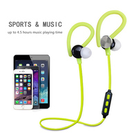 2016 New Sport Running Bluetooth Earphone With Microphone Super Bass Noise Cancelling Music Wireless Headphone For
