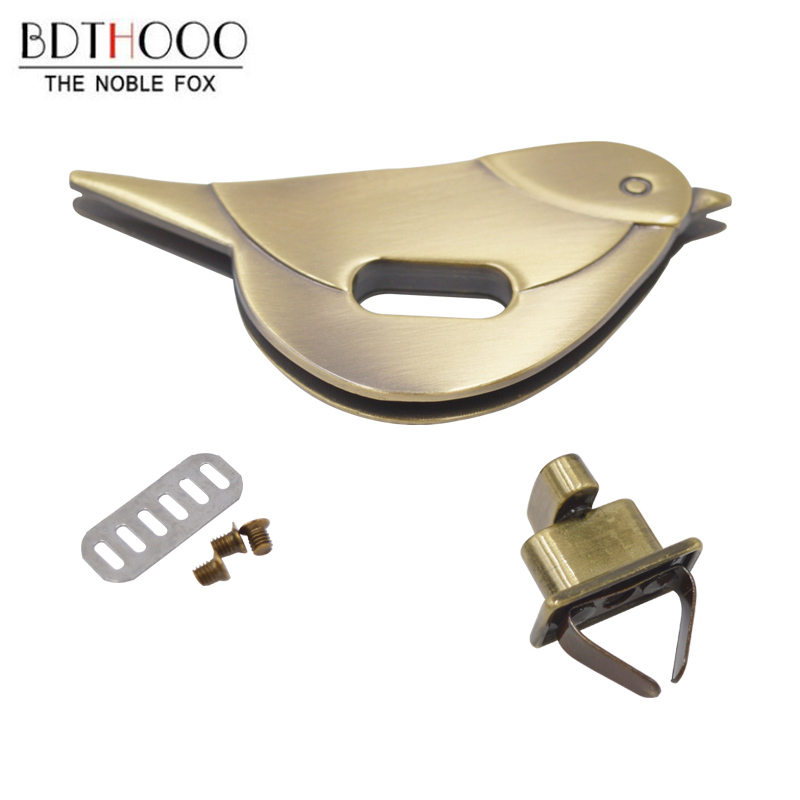 BDTHOOO 1Pcs Metal Clasp Turn Lock Twist Lock For DIY Handbag Bag Purse Hardware Closure Bag Parts Accessories