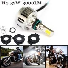 32 w 3000lm motocicleta h4 llevó la linterna bombilla intermitente moto carretera niebla lámpara para cafe racer harley honda yamaha 12 v hs1 súper ligero