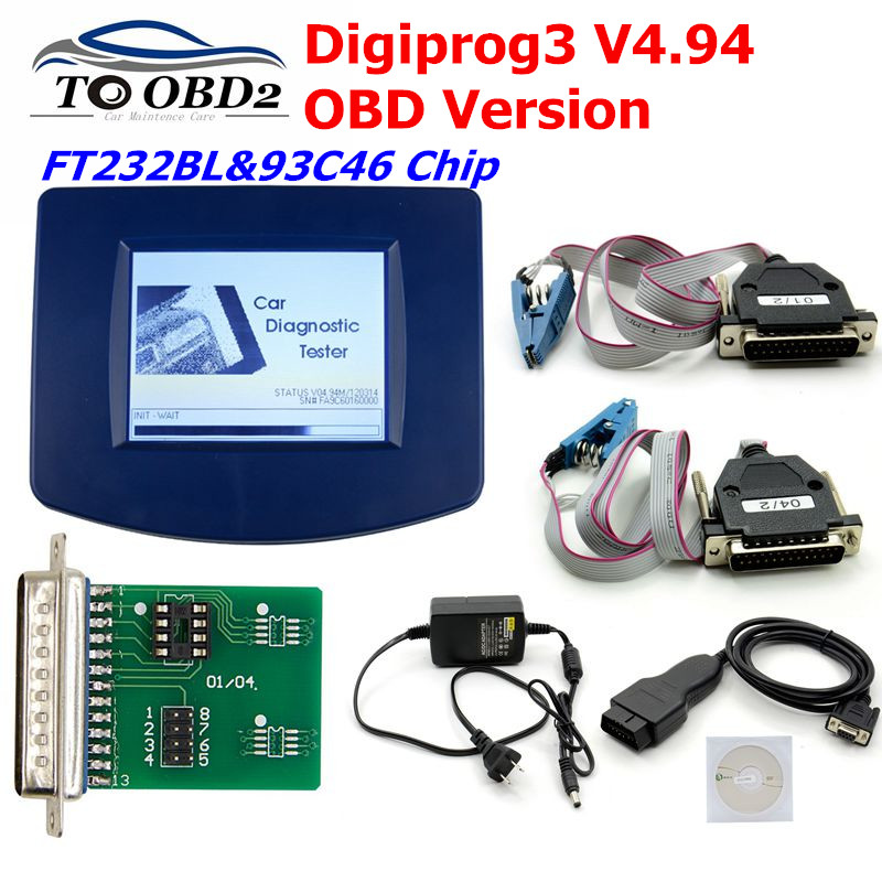 Newest Digiprog 3 Odometer Programmer V4.94 Digiprog Iii With OBD2 ST01 ST04 Digiprog3 Odometer Correction Tool For Multi-Cars