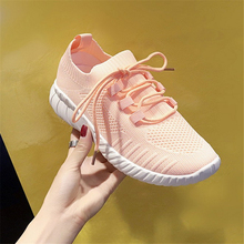 JIANBUDAN/ Summer sneakers Womens outdoor casual walking shoes Mesh breathable running Female white Size 35-40