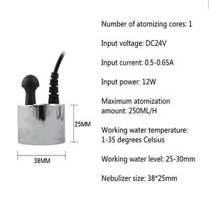 Image 4 - DC 24V Single Head Humidifier Atomizing Spray Machine Head Ultrasonic Mist Maker Humidifier Atomizer Fogger Without Power Supply