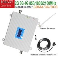 2G CDMA DCS 1800 3G WCDMA 2100 4G LTE 2600 Cellular Signal Booster Amplifier Outdoor Antenna 2G 3G 4G signal repeater booster