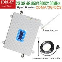 CDMA DCS WCDMA 900 1800 2100 2G 3G 4G LTE Cellular Signal Booster Amplifier Outdoor Antenna signal repeater booster