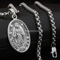 Virgin Mary JESUS 925 Sterling Silver Pendant 8Q012(Necklace 24inch)