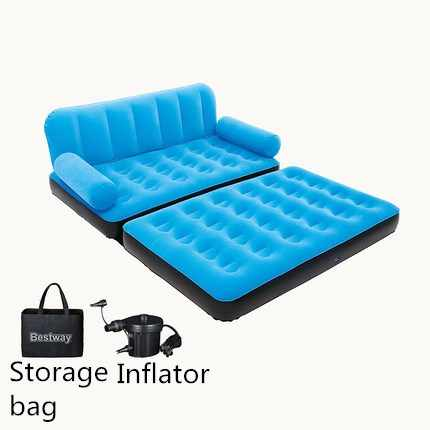Enjoyable Portable Inflatable Beds Soft Velvet Warm Sofas Bedroom Furniture Beds With Air Pump Outdoor Camping Beds Sofa Beanbag Chair Theyellowbook Wood Chair Design Ideas Theyellowbookinfo