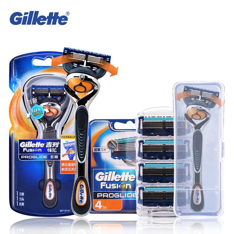 Gillette Fusion ProGlide Razor Blades FlexBall Brand Shaving Machine Washable Shaver Refills Safety Razor