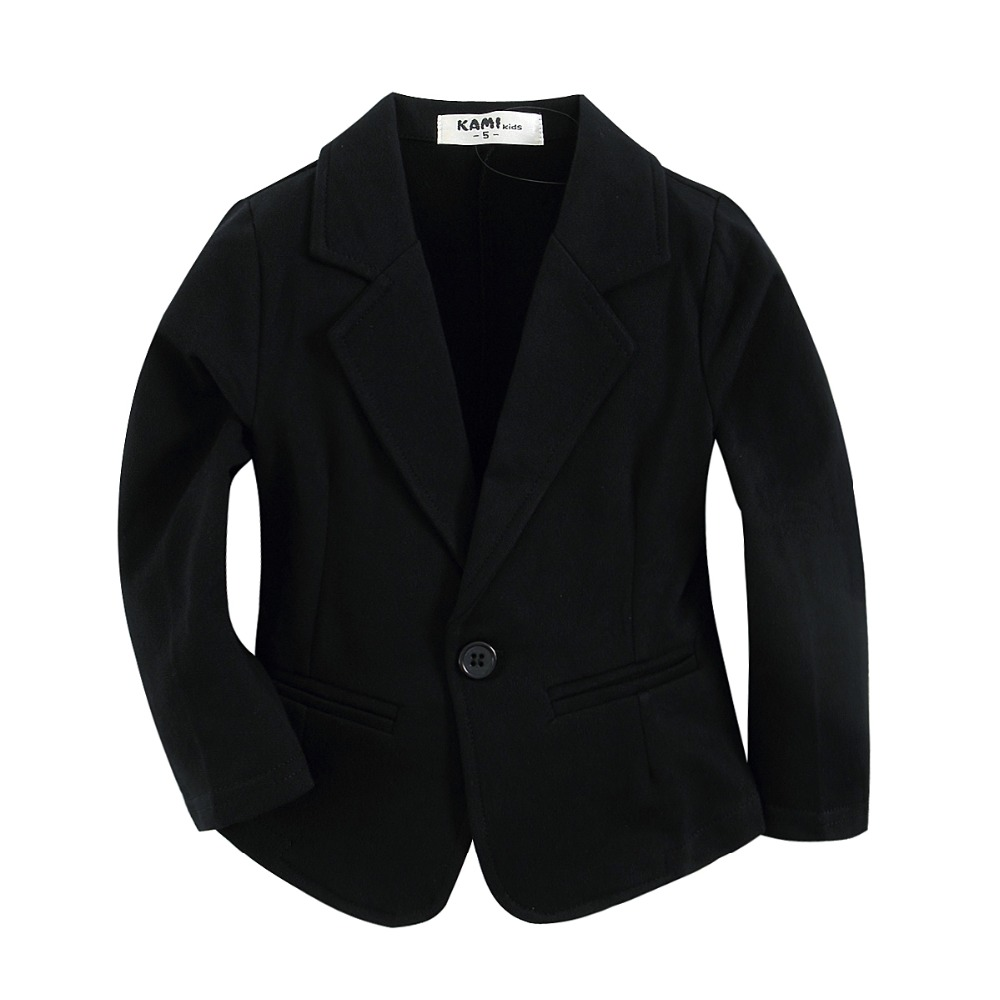 new arrival knitted cotton 100 toddler boy blazer BJ11 solid Black