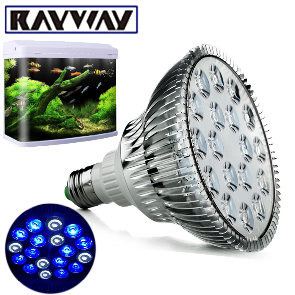 Rayway 2017 New E27 Aquarium Light Bulb Par38 White Blue Led Coral Reef Grow Lamps High Power