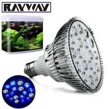 RAYWAY 2017 New E27 Aquarium Light Bulb PAR38 White + Blue LED Coral Reef Grow Lamps High Power Fish Tank LED Bulbs AC85V-265V