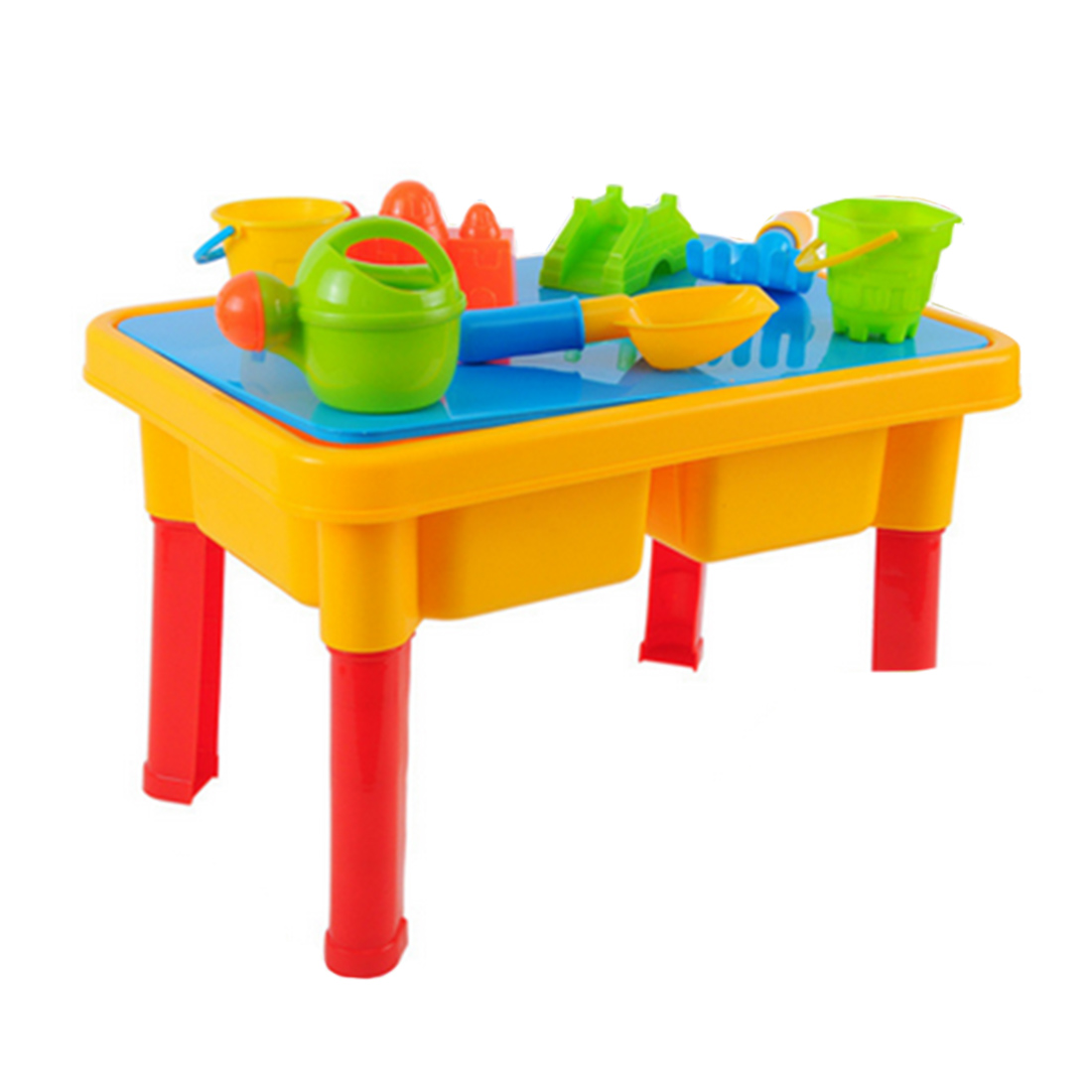 все цены на 15-In-1 Beach Table Toy Set ABS Outdoor Beach Sand Play Toys For Children Gifts онлайн