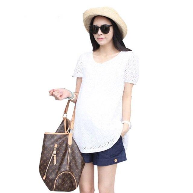 Полые дизайн лето для беременных топы рубашка для беременных женщины