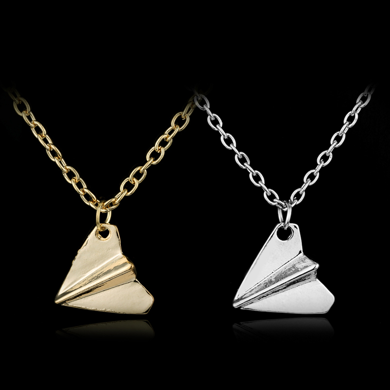 HEYu New Fashion Music One Direction 1D Harry Style Happyfans Paper Airplane Directioner Infinity Chain Pendant Necklace Jewelry