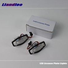 Liandlee For Honda Logo / Stream LED Car License Plate Light Number Frame Lamp High Quality Lights