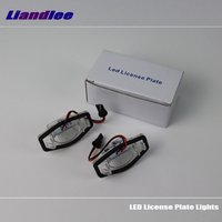 Liandlee For Honda Logo / Stream / LED Car License Plate Light / Number Frame Lamp / High Quality LED Lights