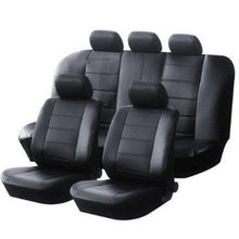 1set New car seat cover Pu leather material made by the seat covers Black universal car seat cover for car volvo for car nissan(China)