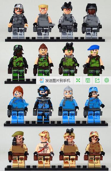 16pcs//lot SWAT Team Leader Military Equipment Anti-terrorism raid CSF Fit Lego