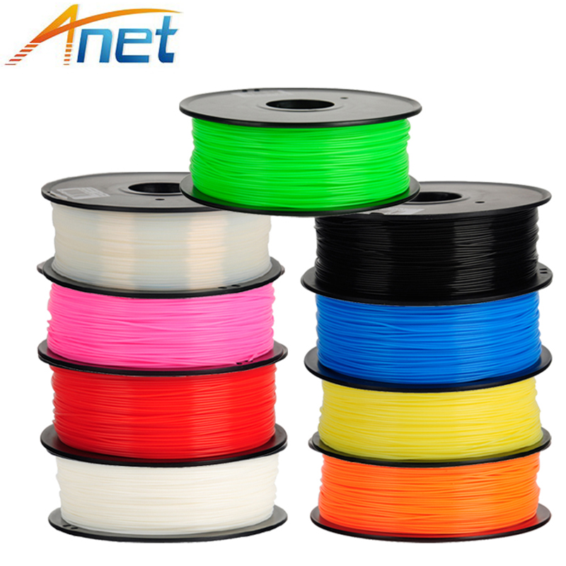 2roll/lot Anet PLA Filament Plastic Material 1kg/roll 1.75mm 3D Printer Filaments 4 colors Option 1kg lot 100
