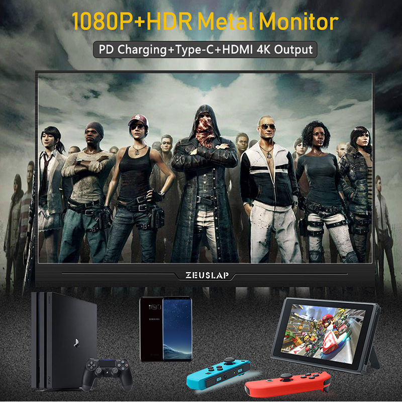 Image 5 - 13.3 Inch IPS Gaming Monitor 1920x1080 HD slim Portable Monitor with HDMI, Audio Output, USB Powered, built in Speaker For PS4-in LCD Monitors from Computer & Office