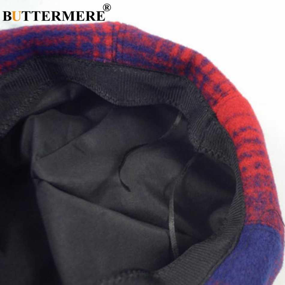 Берет BUTTERMERE цвета хаки, Женская Шерстяная кепка художника из тыквы, Женская винтажная теплая шляпа французского художника, Женская Осенняя Кепка из восьми частей s