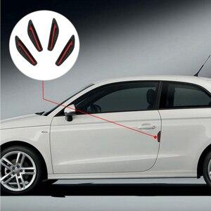 4 шт./компл., резиновая Автомобильная боковая защита края, защита двери, защита от царапин, автомобильные наклейки и наклейки, 4 цвета, авто Ух...