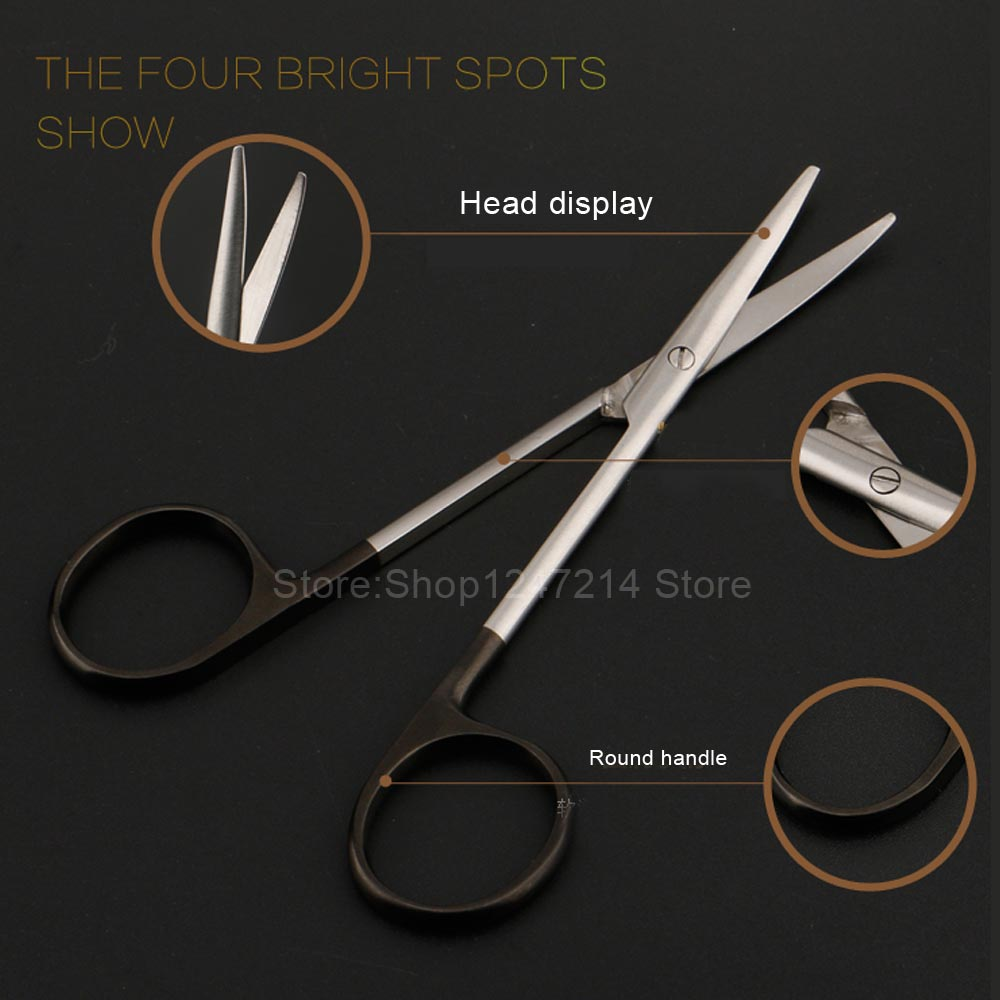 Beauty & Health>> Makeup>> Makeup Tools / 12.5 15 16 18cm black handle round head scissors fine blunt straight straight scissorsBeauty & Health>> Makeup>> Makeup Tools / 12.5 15 16 18cm black handle round head scissors fine blunt straight straight scissors