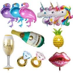 Glücklich Geburtstag Ballon Große Champagner Ballon Einhorn Helium Ballon Geburtstag Party Dekoration Kinder Erwachsene Event Party Luft Globos
