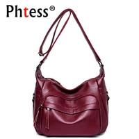2018 New Hobos Crossbody Bags For Women Soft Leather Female Shoulder Bags Vintage Women Messenger Bag