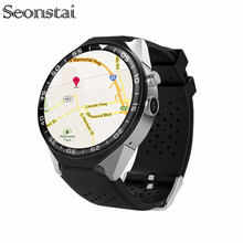 Seonstai 16GB ROM 3G Android 5.1 Smart Watch S99C Wristwatch 1GB Ram MTK6580 Quad Core 1.39″ Pedometer Heart Rate Wifi GPS SIM