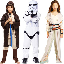 Halloween Children's Day Cosplay Costume star wars force awakens clothes white soldiers Stormtrooper Rey Jedi knights clothing kids cosplay star wars the force awakens imperial stormtrooper role playing costumes uniforms performance performance clothing