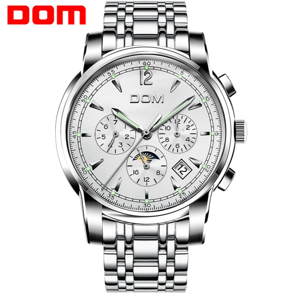 DOM Clock Wristwatch Mechanical-Watches Waterproof Luxury Brand Relogio Masculino Sport