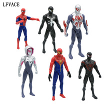 18 CM Movie SpiderMan Homecoming Gwen Stacy Spider Woman Spider Man With Led Light Cartoon Toy Action Figure Model Doll Gift(China)
