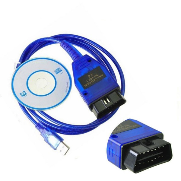 OBD2 <font><b>USB</b></font> Car Diagnostic Cable Blue <font><b>VAG</b></font>-COM <font><b>KKL</b></font> <font><b>409.1</b></font> Auto Scanner Scan Tool For Seat Car Diagnostics Tools image