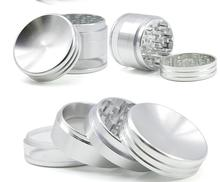 63mm 4layer Grinder Concave Herb  Aluminum Transparent Bottom Cover Tobacco Smoke Smoking Accessories