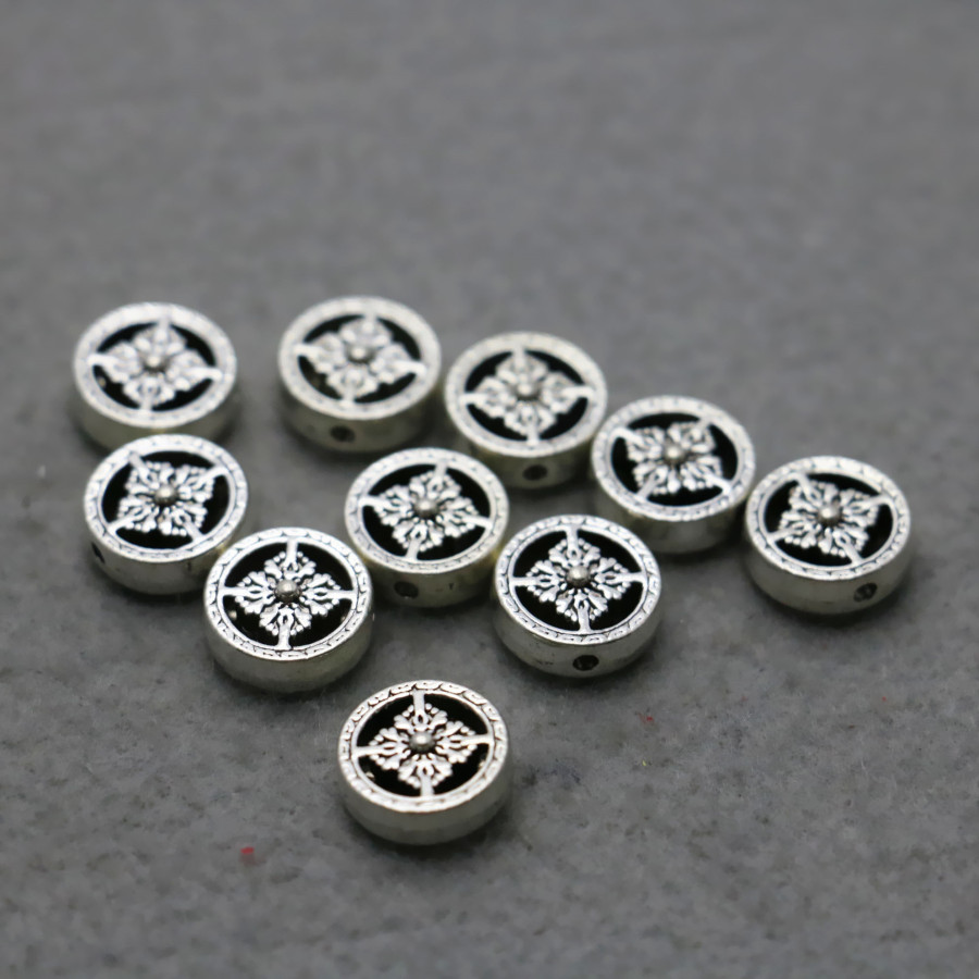 10PCS Hot Wholesale buttons Boutique Round Alloy Findings separate Fittings for Accessory 11*4mm DIY beads components Findings