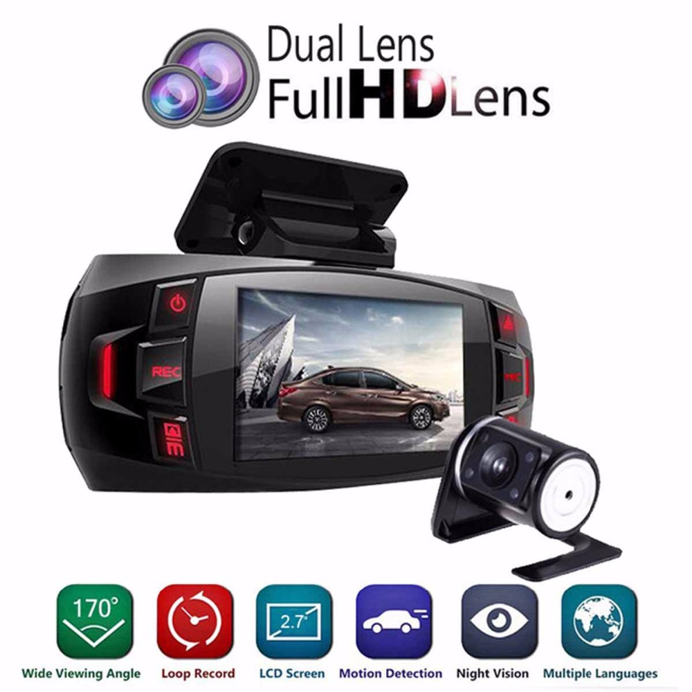 Range Tour dual font b camera b font Car DVR Dashboard font b Camera b font