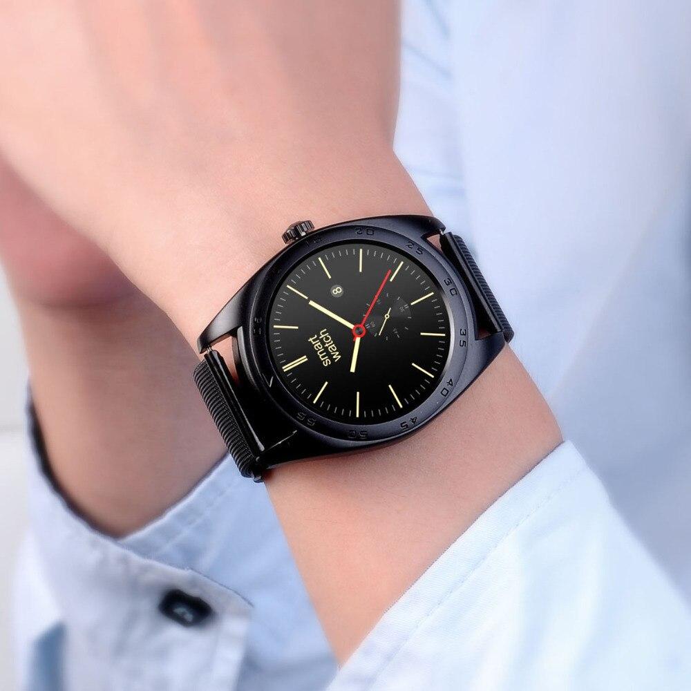imágenes para 2016 NUEVOS Relojes Inteligentes K89 Bluetooth Ronda Teléfono Smartwatch Para Android y iPhone ISO con Monitor de Ritmo Cardíaco Usable Dispositivos