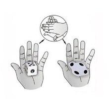 Сплющенные кости крупным планом Волшебные трюки с костями легко сделать для начинающих магический реквизит игрушки фокусник трюк магический инструмент
