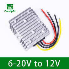 6-20V to 12V 4A 12A Boost Buck Module 12V Voltage Stabilizer 48W 144W DC DC Converter Regulator Power Supply for Cars Lights цена
