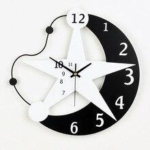 9c2c9beeb نجمة مون الكرتون الإبداعية الساعات الأزياء الراتنج الرسم غرفة الأطفال غرفة  الصامتة الإلكترونية ساعة حائط هدية