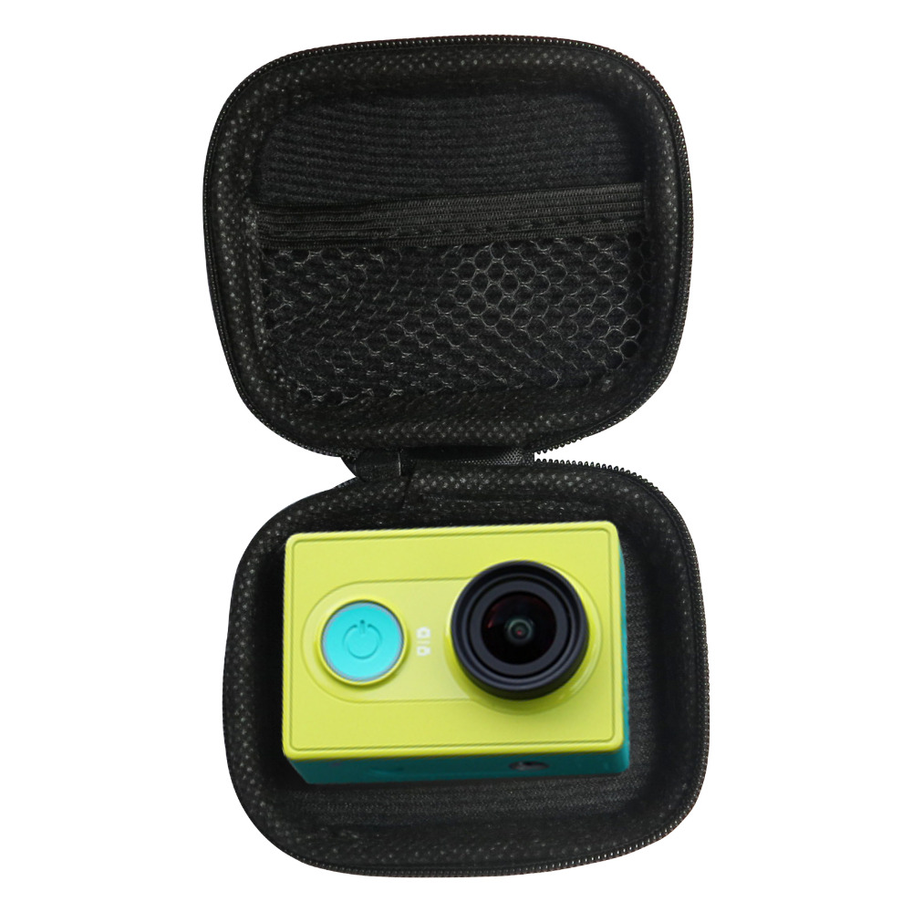 SHOOT Portable Mini Box EVA Black Camera Bag Case For Gopro Hero 5 4 3 Xiaomi Yi 4K SJCAM SJ4000 C30 Yi Go Pro Accessories gopro accessories head belt strap mount adjustable elastic for gopro hero 4 3 2 1 sjcam xiaomi yi camera vp202 free shipping