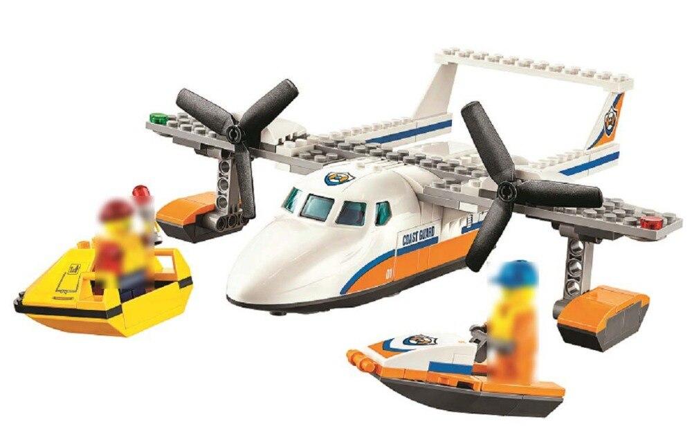 Legoing Rescue aéronefs en mer 60164 153 Bâtiment Blcok set Brique compatible 10751 Jouets pour enfants Cadeau