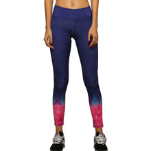 YOFOCOO Women's Printing Pants Fitness Tights Workout Elastic Pants Female Active Trousers Capri Pant 126