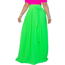 Summer new womens chiffon skirt large swing pleated urban casual cake