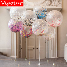 VIPOINT PARTY 12inch Rainbow paper scraps latex balloons wedding event christmas halloween festival birthday party HY-340