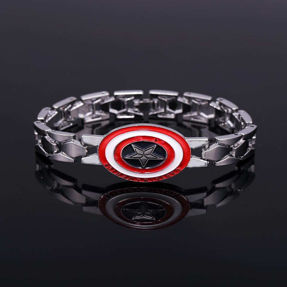 ᐅMJ Капитан Америка Сталь Браслеты щит логотип браслет ...