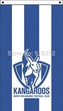 AFL Kangaroos Flag 3×5 FT 150X90CM Banner 100D Polyester flag 2012, free shipping
