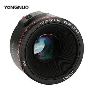 Image 1 - YONGNUO YN50mm F1.8 II F1.8 Large Aperture Bokeh Effect Camera Lens Auto Focus Lens for Canon EOS 700D 750D 5D 600D DSLR